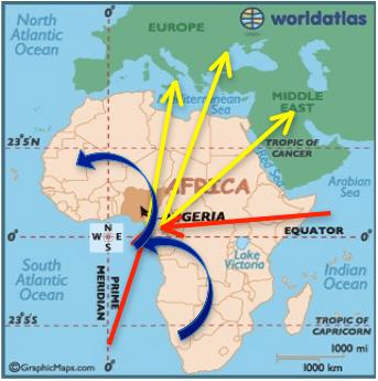地図 ナイジェリアは、人身売買の被害者を生み出す送り出し国であり、被害者を移... ナイジェリア